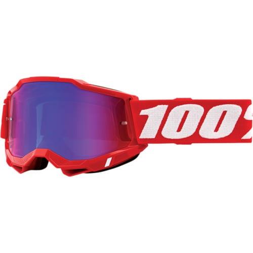 MASCHERA 100% ACCURI 2 NEON RED
